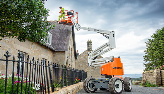 The New Snorkel A46jrte Lithium Powered Articulated Rough Terrain Boom Lift